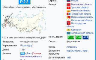 """Трасса Р22 """"Каспий""""- бывшая дорога М6"""