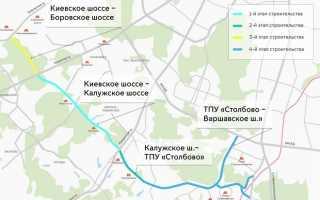 Дорога Солнцево Бутово Варшавское шоссе