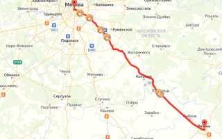 Расстояние между Рязанью и Москвой на авто